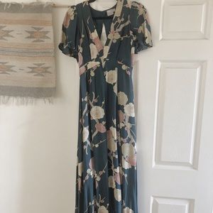ASOS size 4 floor length floral dress
